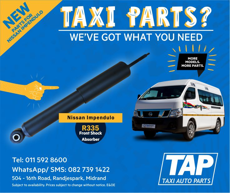 NEW parts for Nissan Impendulo - Front Shock Absorber - Taxi Auto Parts TAP