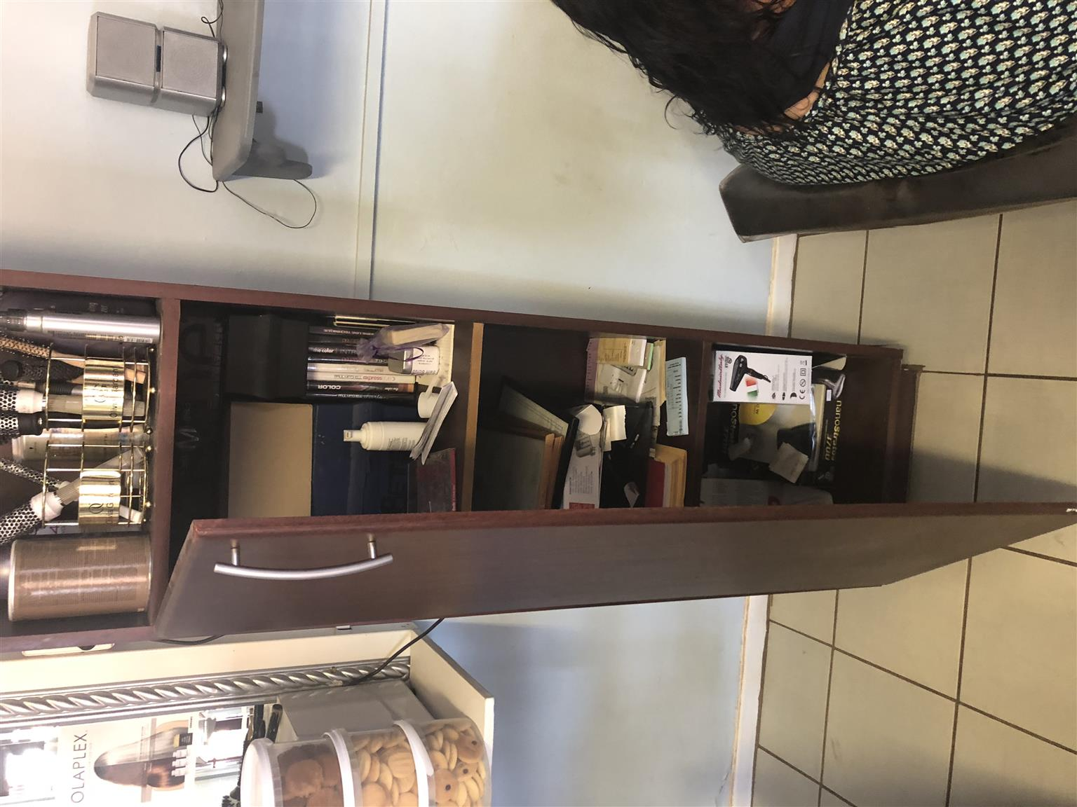 4x Wooden Tall Cabinets with Mirrors and one door - Hair Salon Equipment