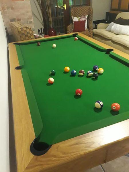 Solid oak pool table