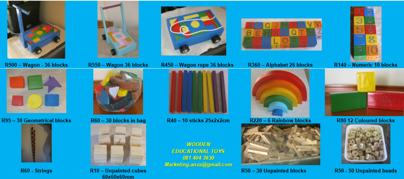 WOODEN BLOCKS & BEADS FOR BOYS AND GIRLS! Recommended by Teachers and Therpists.