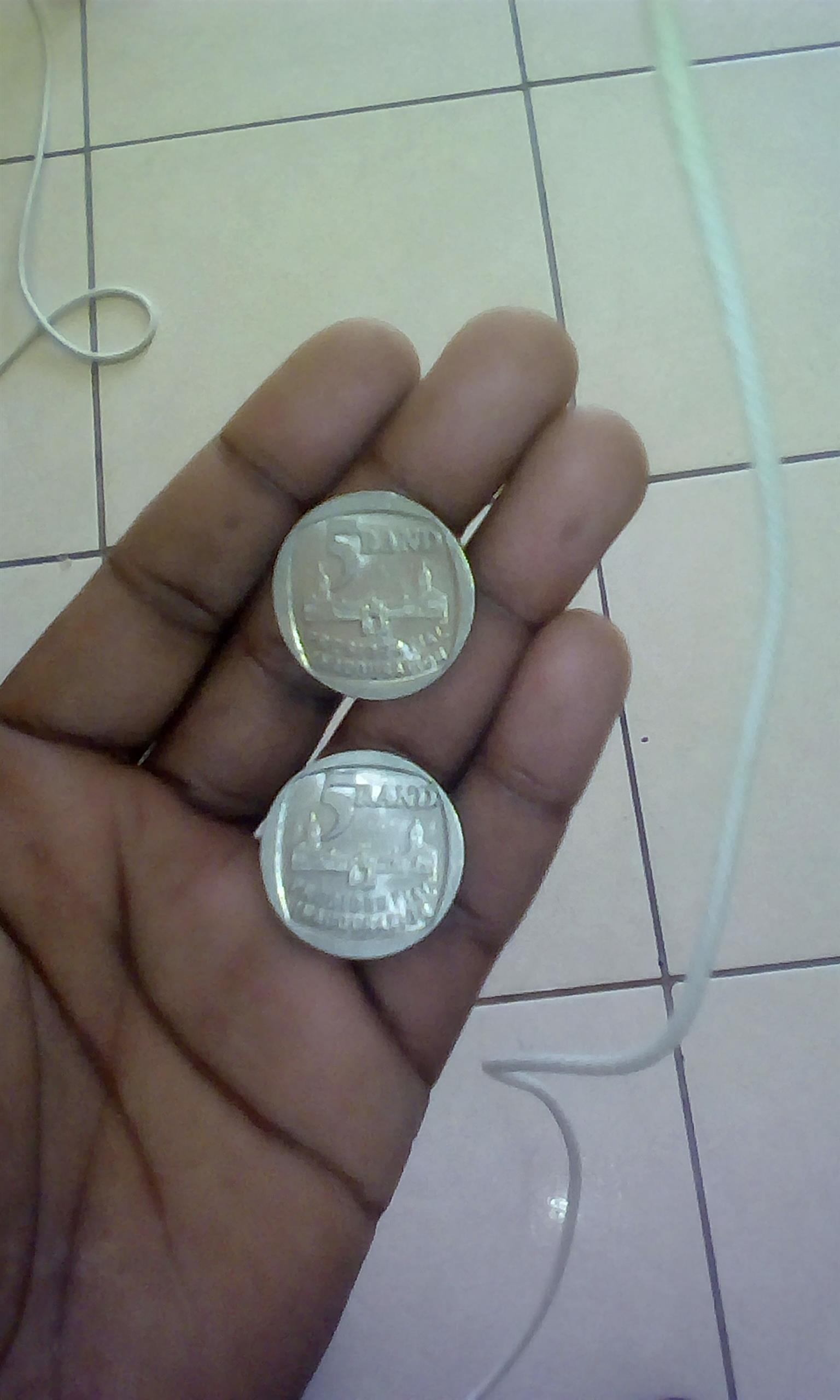 1994 union building R5 coins x2