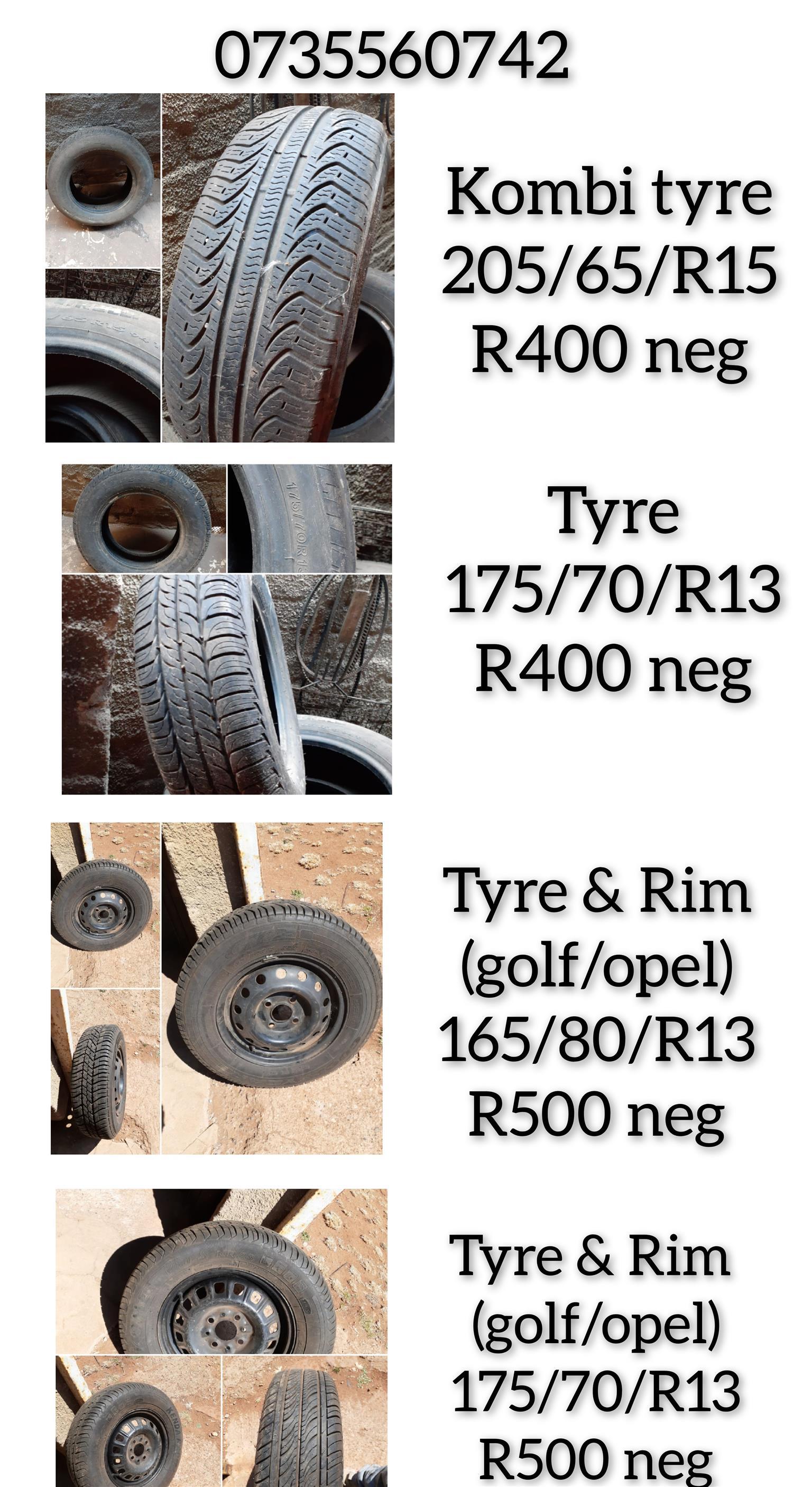 Various tyres