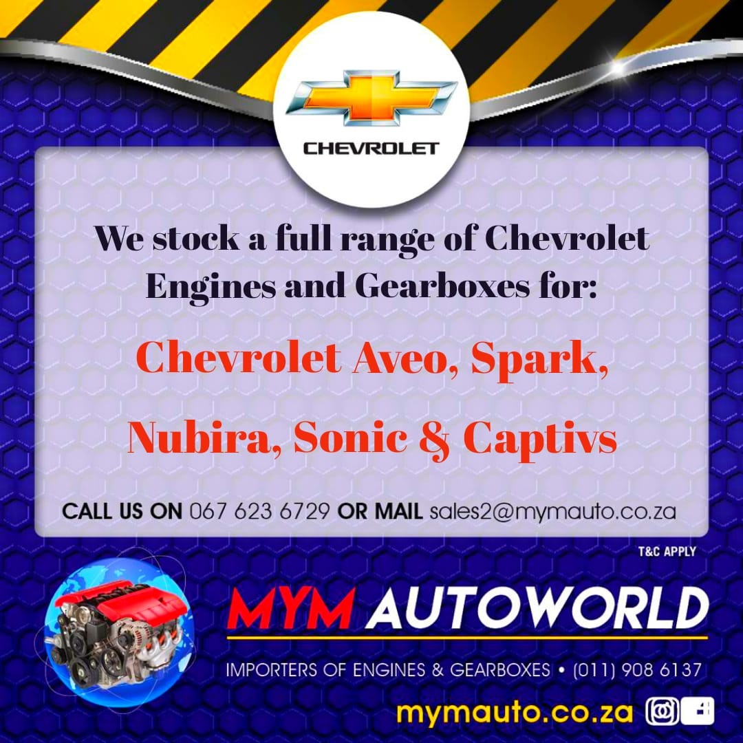 IMPORTED SECOND HAND CHEVROLET ENGINES AND GEARBOXES