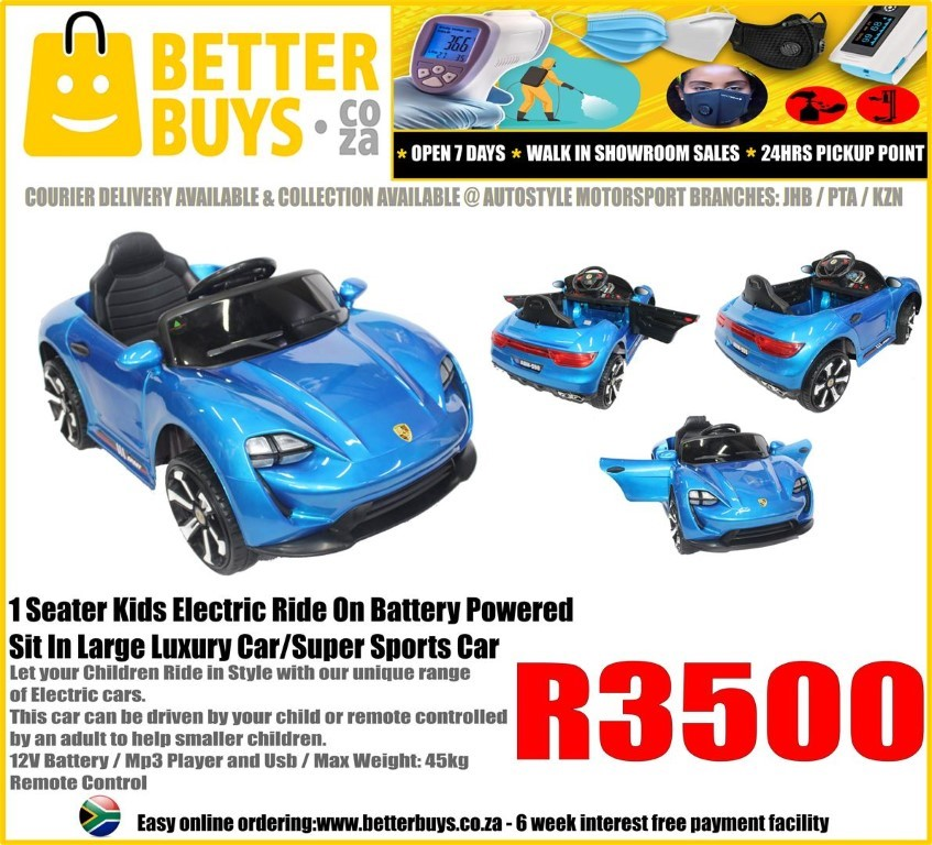 1 Seater Kids Electric Ride On Battery Powered Sit In Large Luxury Car