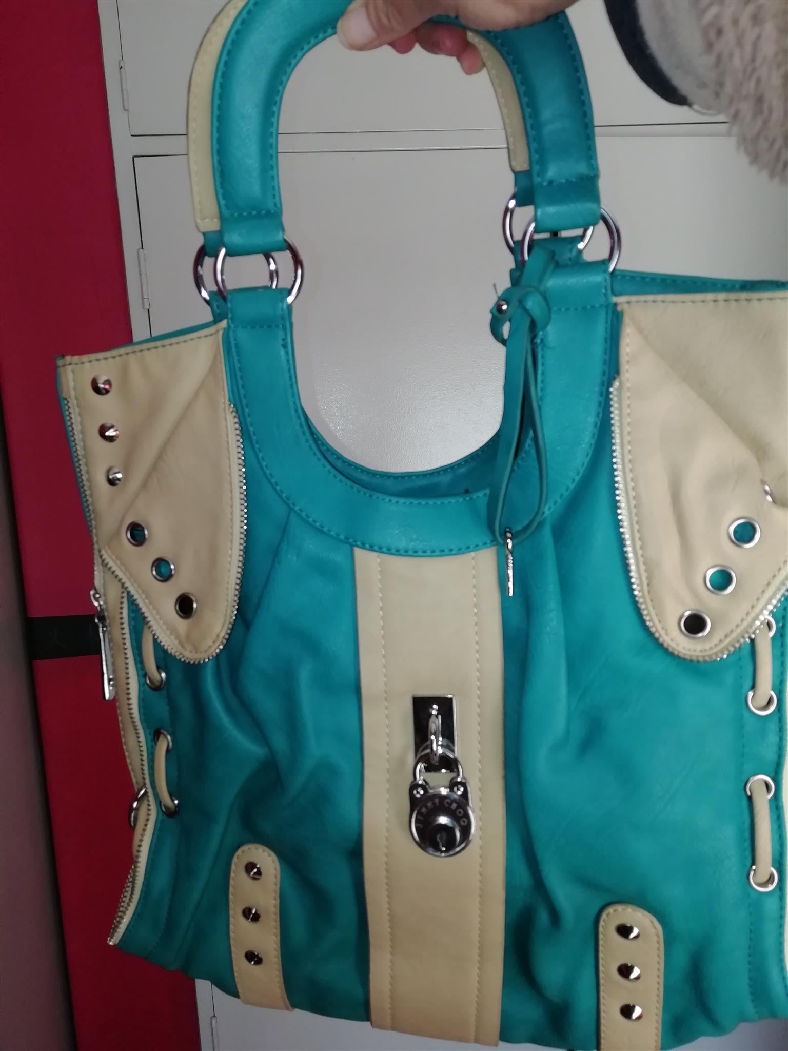 STUDDED JIMMY CHOO BAG FOR SALE