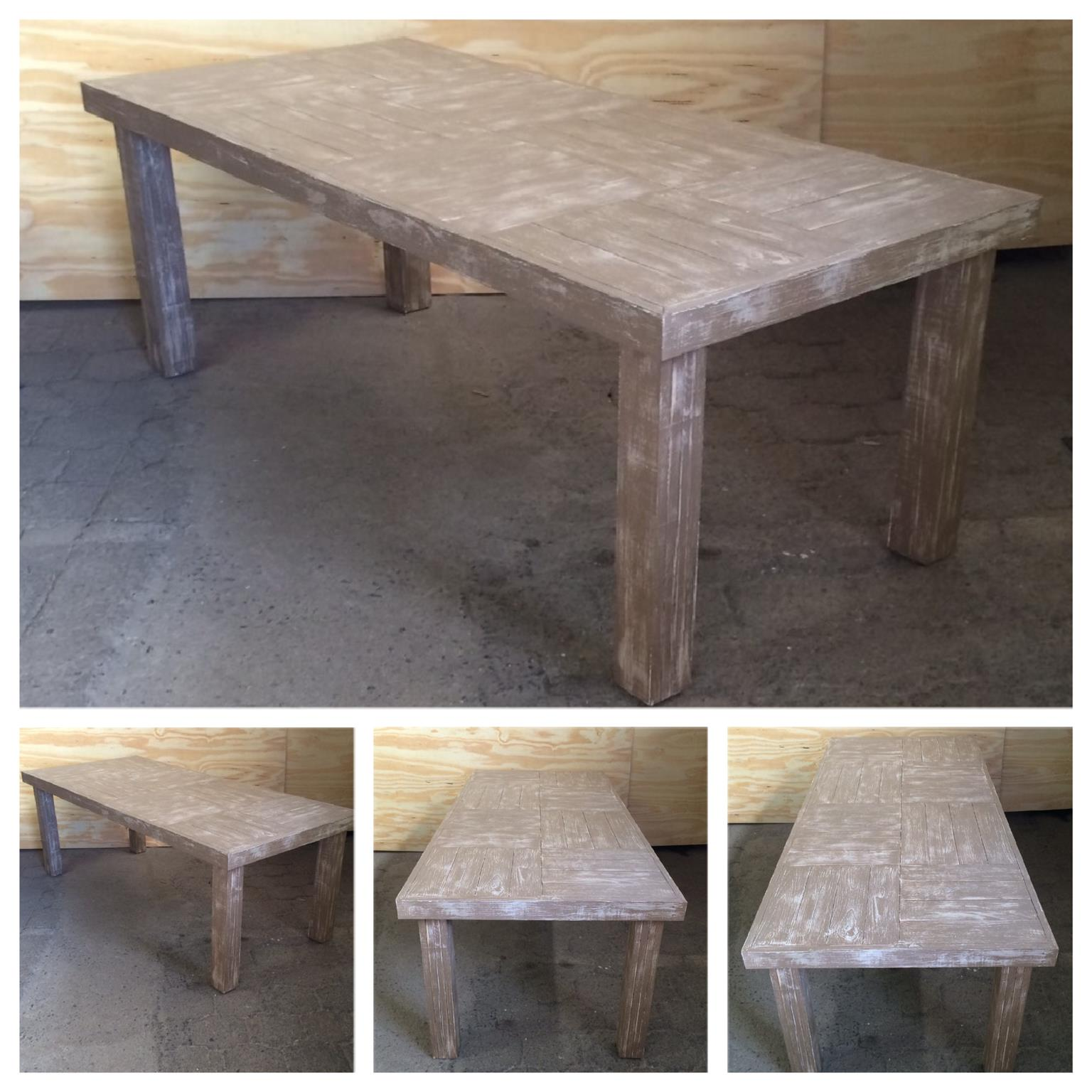 Patio table Farmhouse series 2100 Weathered look