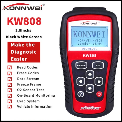 KONNWEI KW808 EOBD OBD2 Auto Engine Diagnostic Scanner