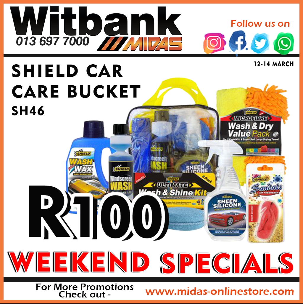 Shield Car Care Bucket ONLY  at Midas Witbank!