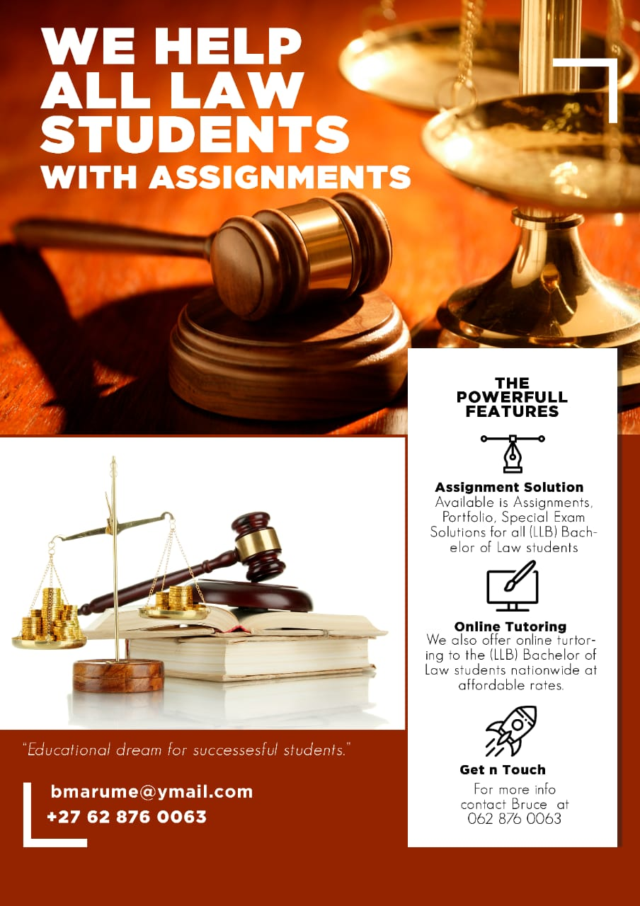 assignment and portfolio assistance for bachelor of law (LLB)