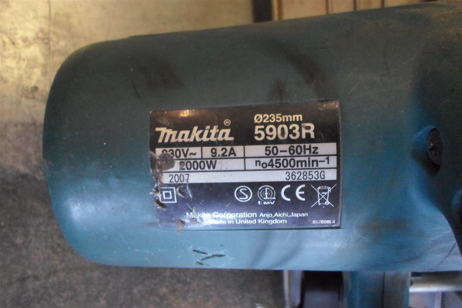 2000W Makita 5903R Circular Saw - B033042197-2