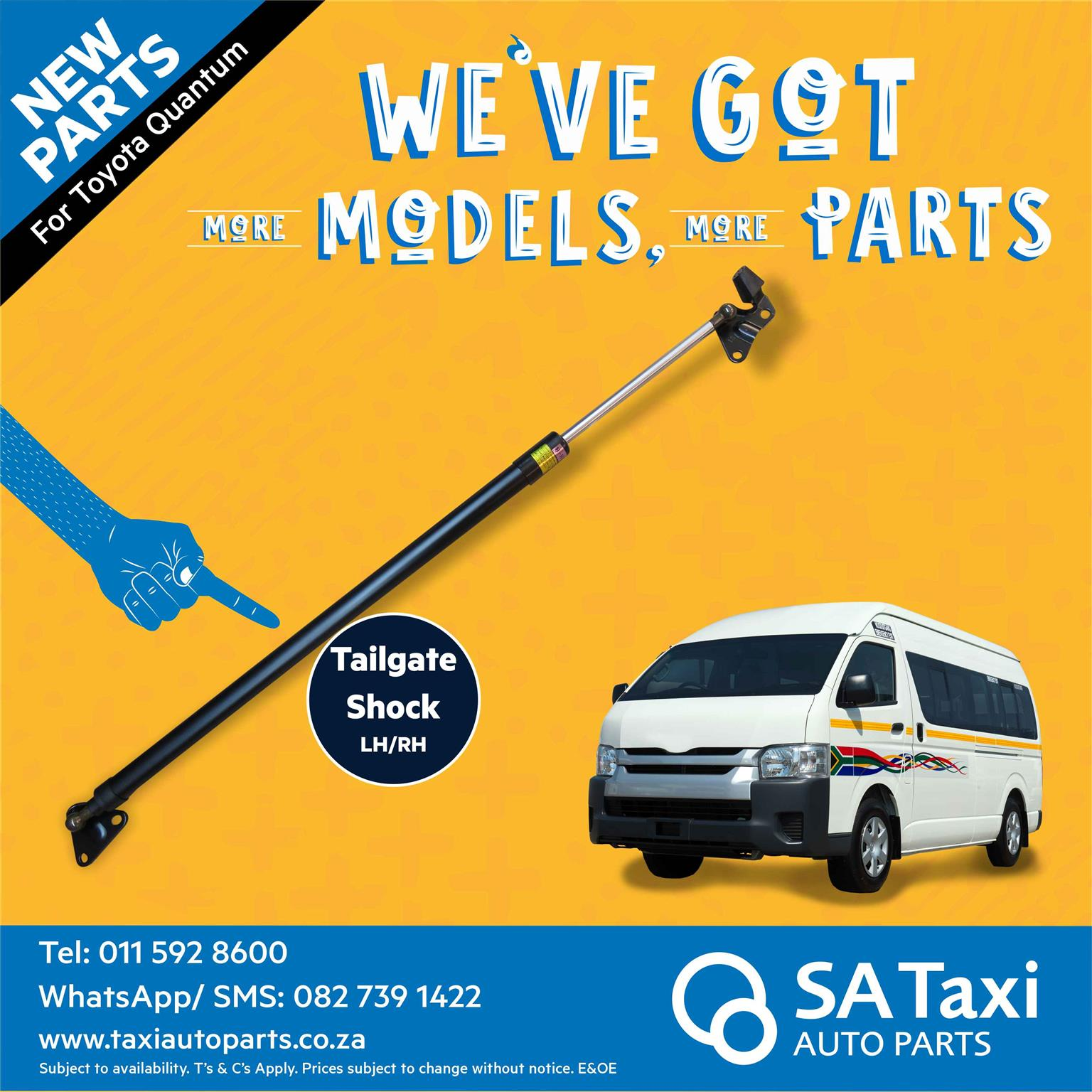 New Tailgate Shock suitable for Toyota Quantum - SA Taxi Auto Parts quality taxi spares