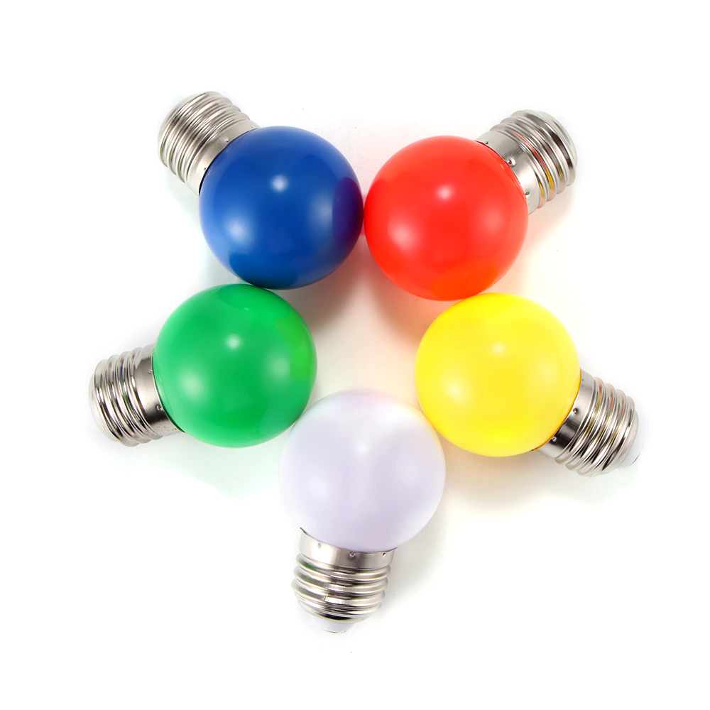 Decorative LED G45 Light Bulbs Golf Ball Size Colourful Mini LED Light Bulbs E27