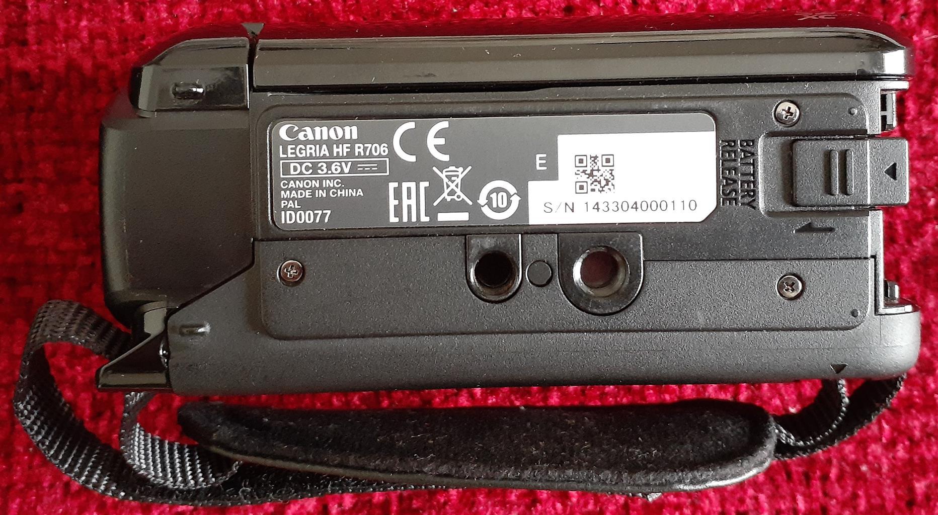 CANON LEGRIA HF R706 VIDEO CAMERA