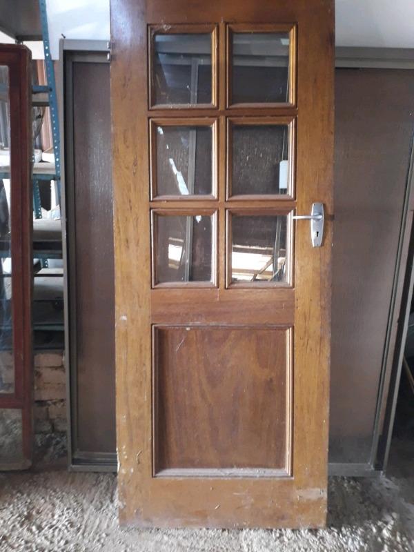 Outside wooden door