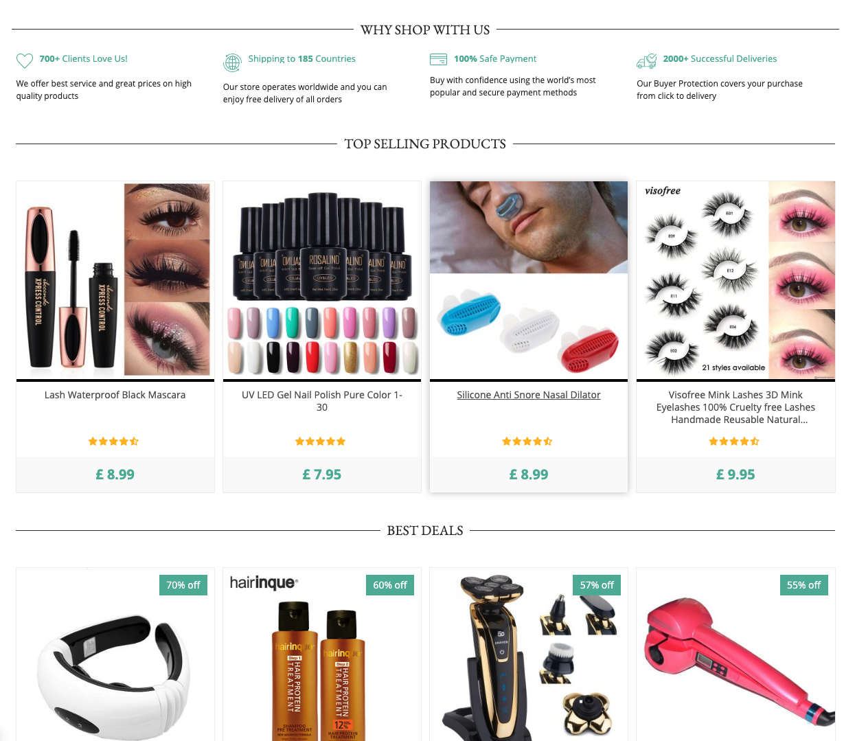 Online Beauty Stores   150+ Products