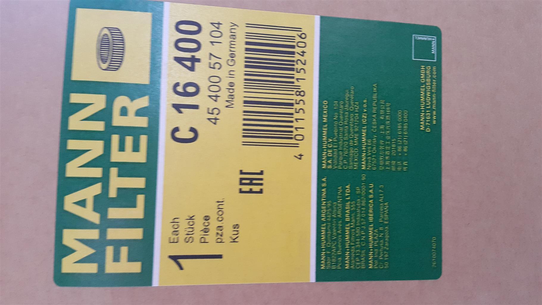 dc5cbec45fa Mann Hummel Air, Oil Filters, Spin On Separators and Drop In Separators