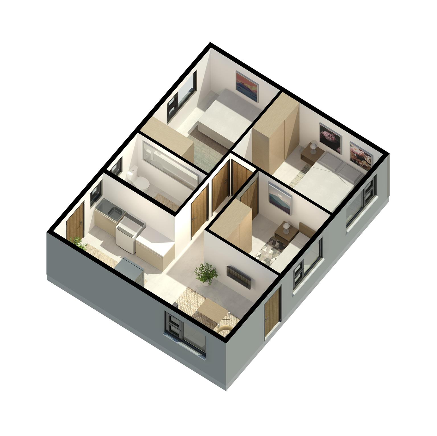 3 Bedroom house With KM HOUSING owning your dream home is possible!