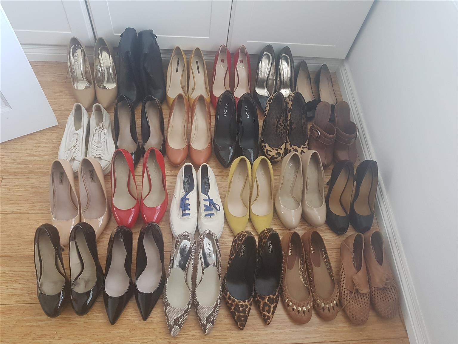 24 pairs of shoes for sale