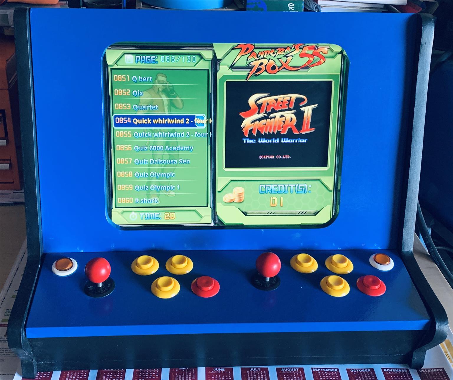 Counter top arcade game machine