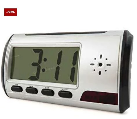 Motion Detection Camera Clock + Free 16GB