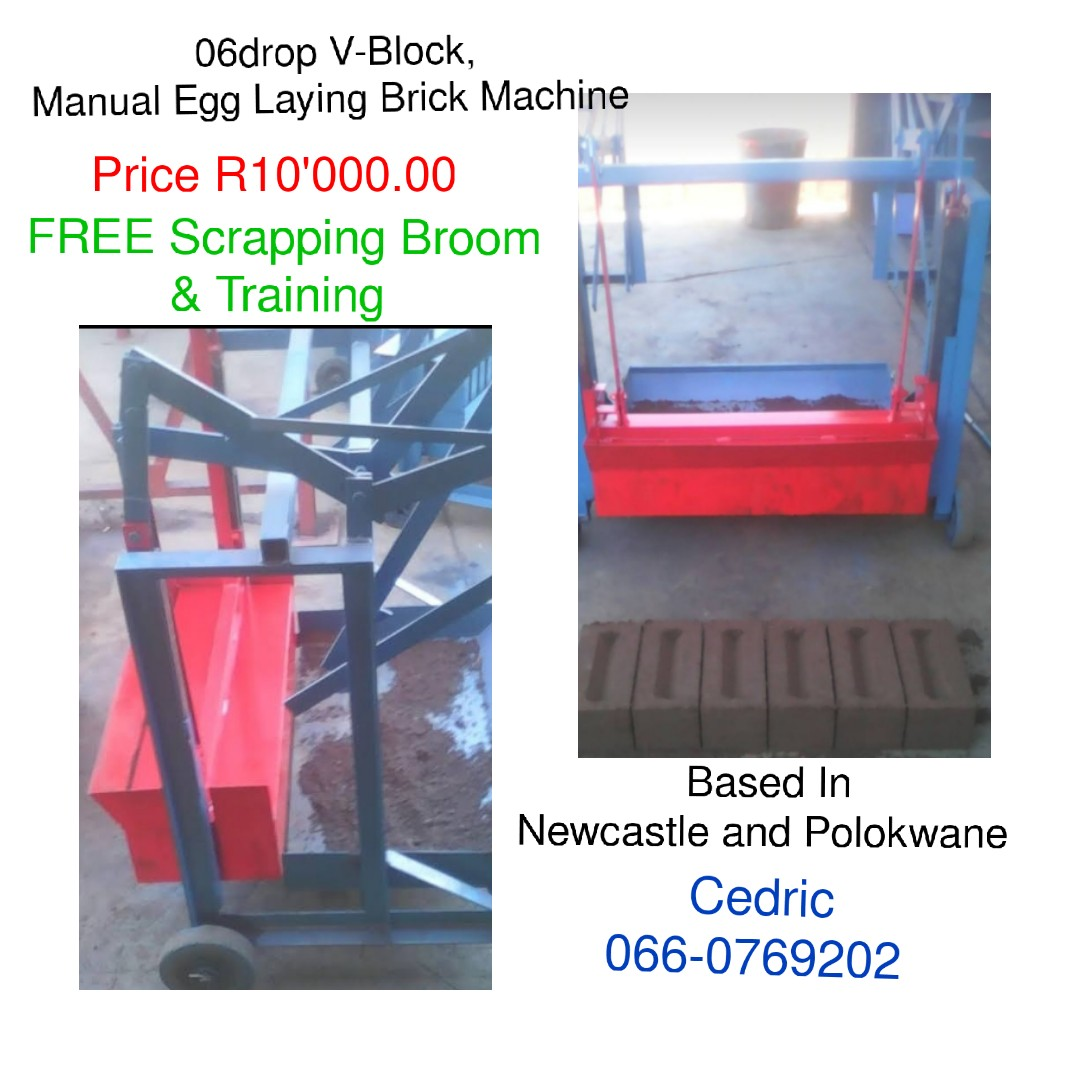 06drop V-Block, Manual Egg Laying Brick Machine