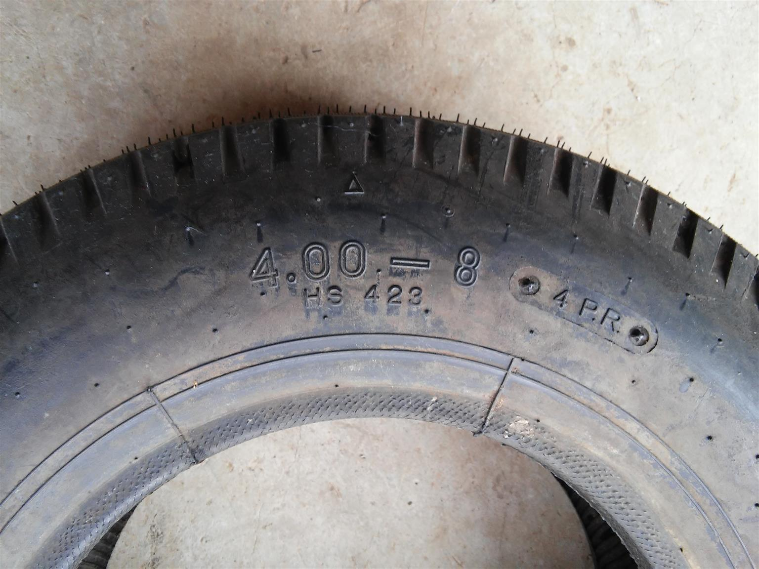 Swallow Tyre - 4.00x8 2-Ply (Made in Korea)
