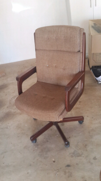 High Back Wooden Handle Chair