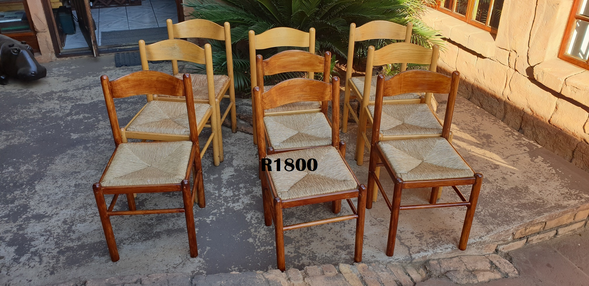 9 X Wicker Globe Chairs