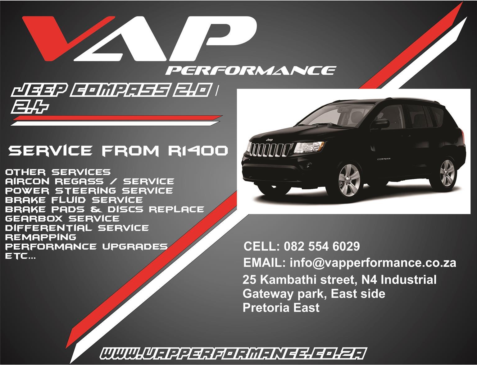 Jeep Compass Service (Major and minor )