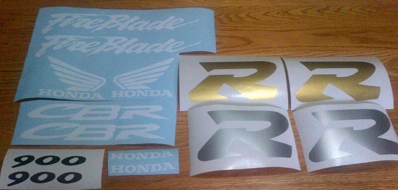 1997 CBR 900 RR vinyl cut stickers decals graphics kits