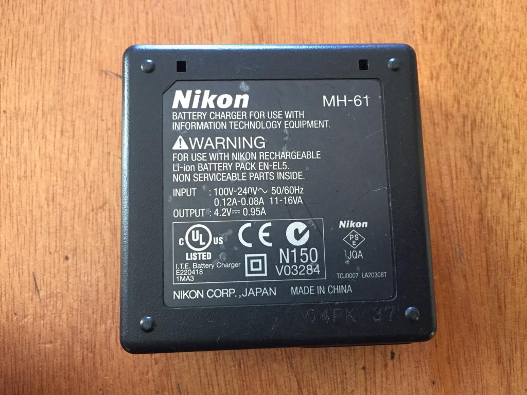 Nikon MH-61 Battery Charger for EN-EL5 Battery - see below to check compatibility
