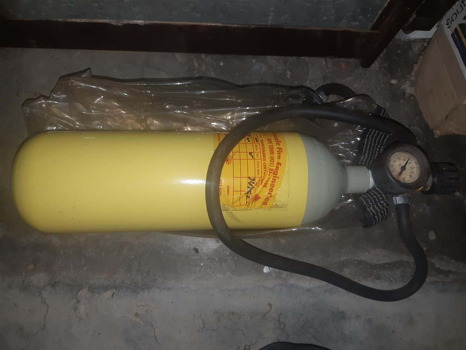 Oxygen Tank in case of fire