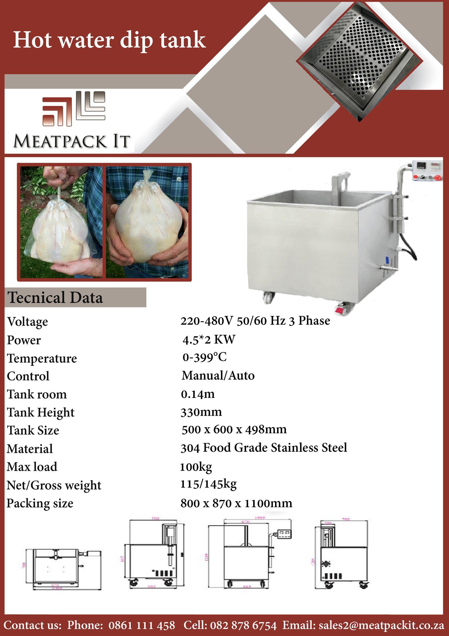 Hot water dip tank