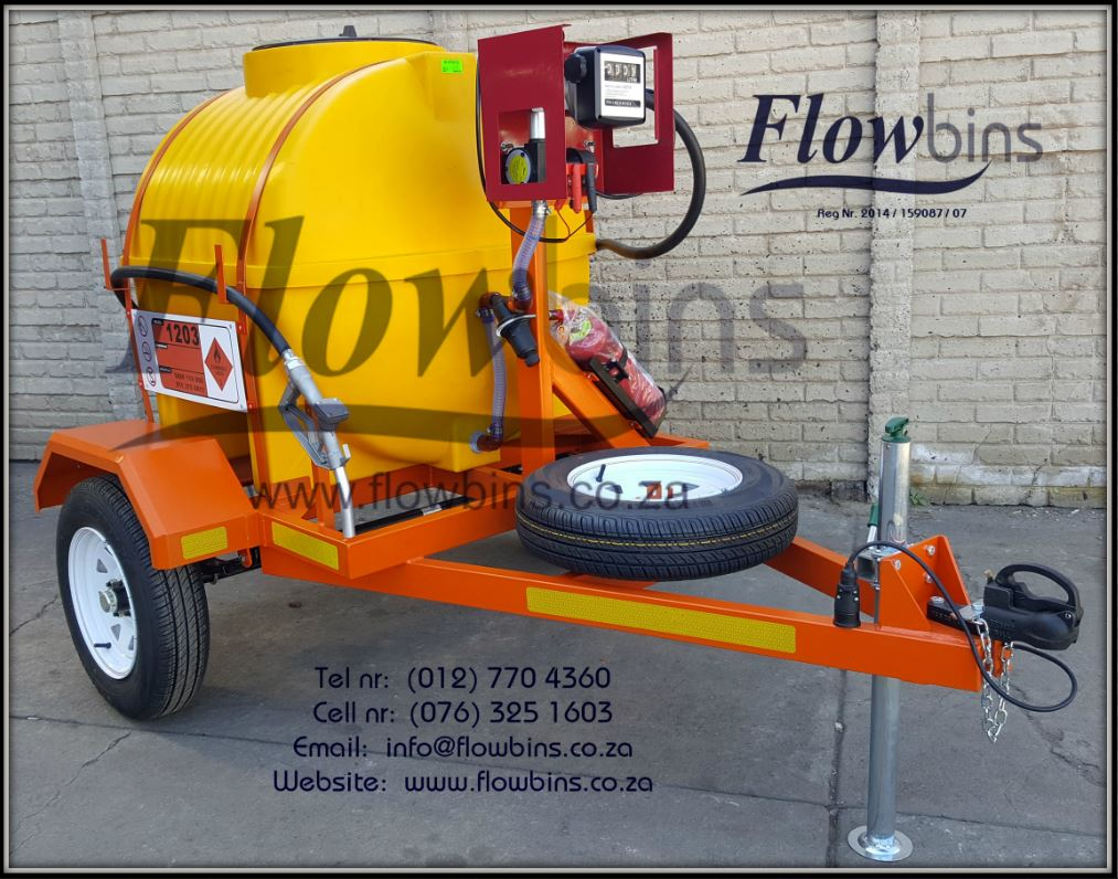 NEW 12V Diesel Bowser 1000Lt & 600Lt Trailers with Papers from R19 990