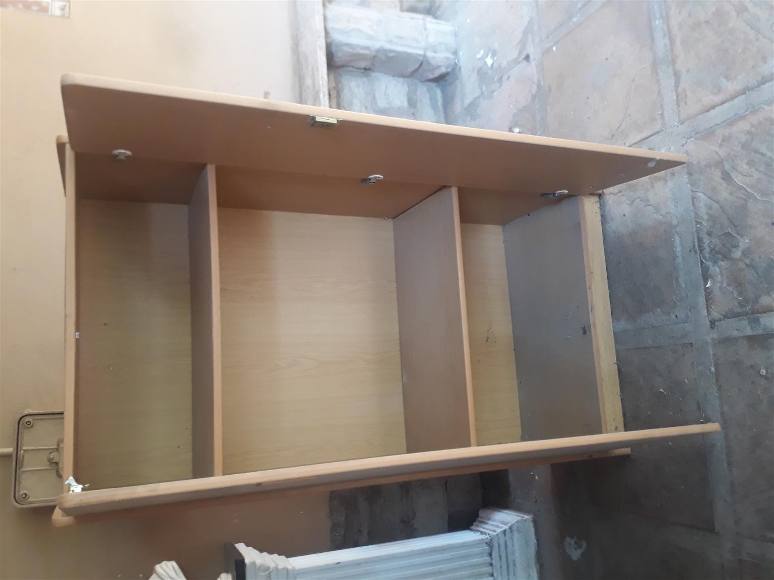 Standard size office veneered chipboard cupboard,  two door two adjustable shelves