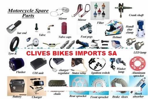 importers on Motorcycle parts/chinese/japanese/couriers done all over sa