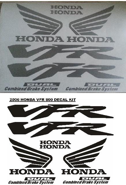2006 VFR 800 decals stickers vinyl cut graphics kits