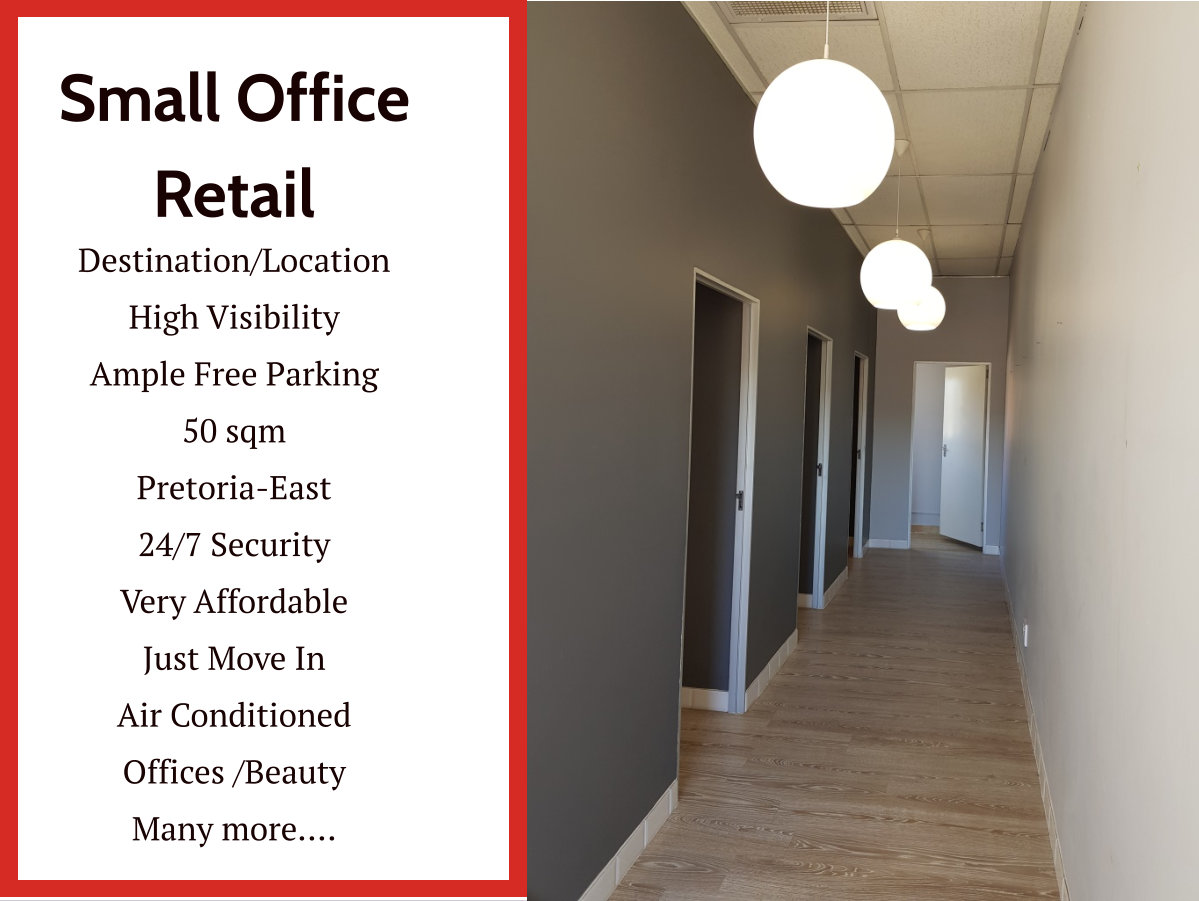 Small Office/Business Space in Pretoria-East