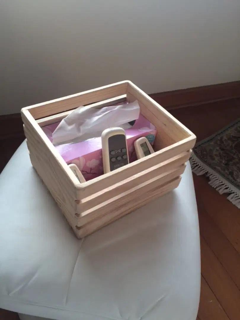 Wooden organiser box