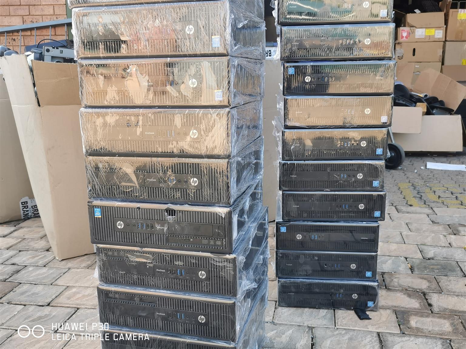 4TH GEN I3, 4GB RAM, 1TB HDD HP PRO DESK 600 G1 SFF PCS