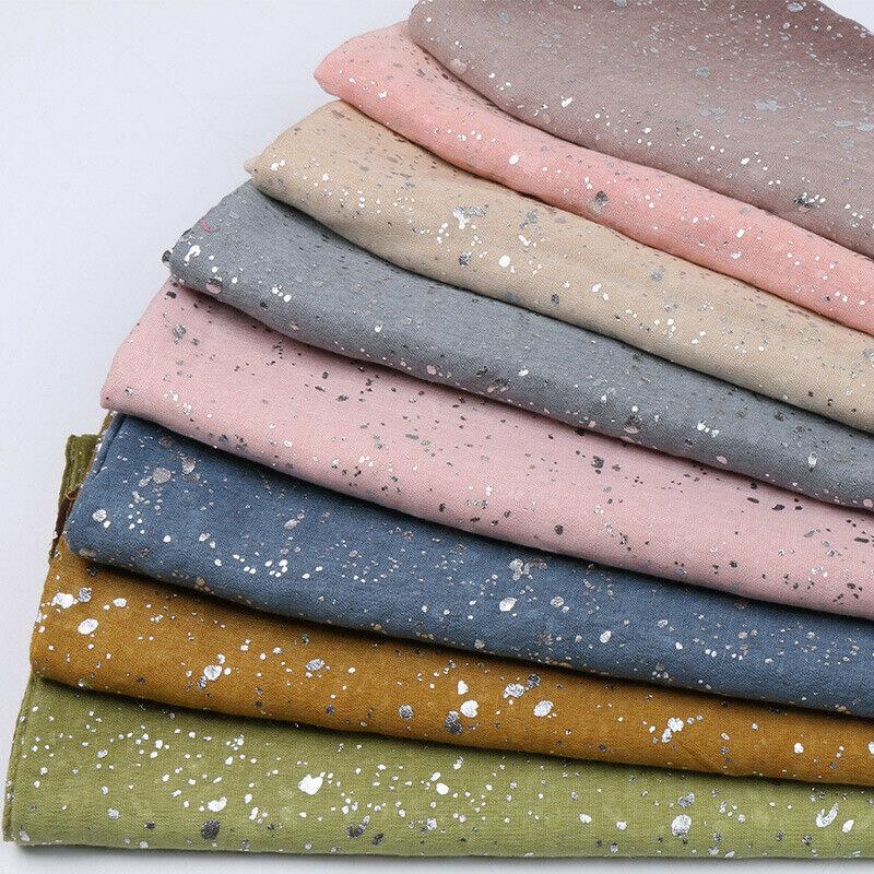 Fashion Soft Cotton Scarf Muslim Hijab Shimmer Gradient Scarves Shawl Headscarf