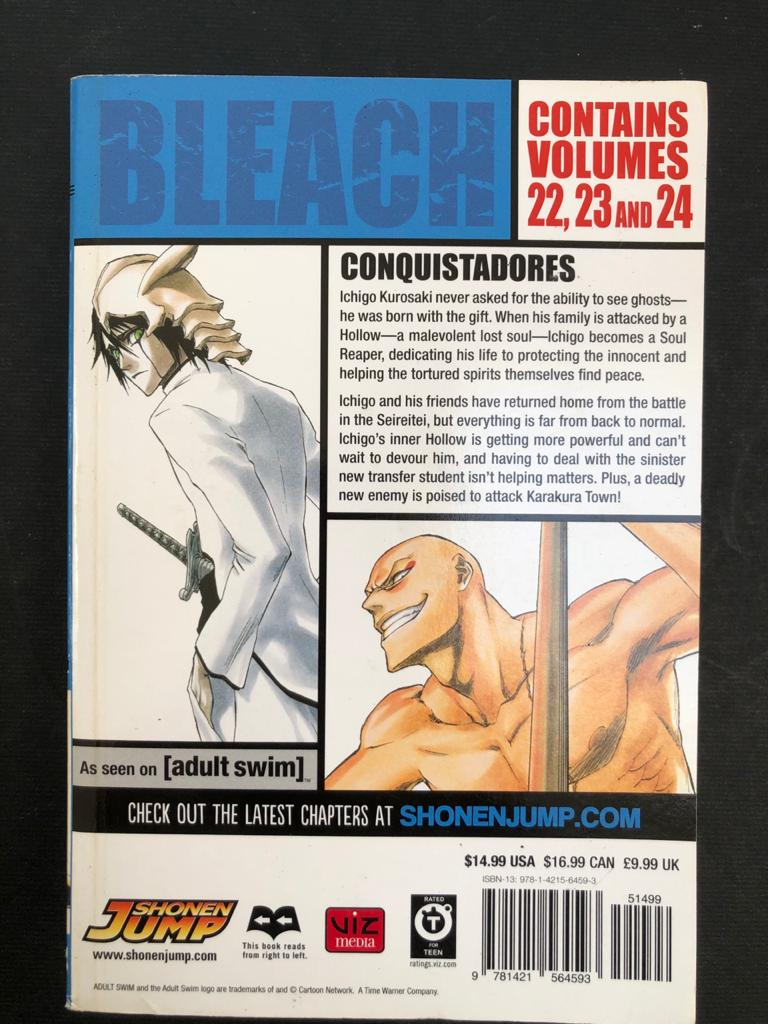 Manga books -Bleach (3-in-1 Editions) by Tite Kubo  - 3 x 3 volume books available - Price per book