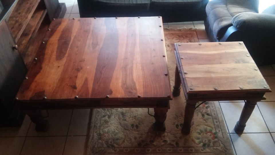 Two Coricraft coffee tables.