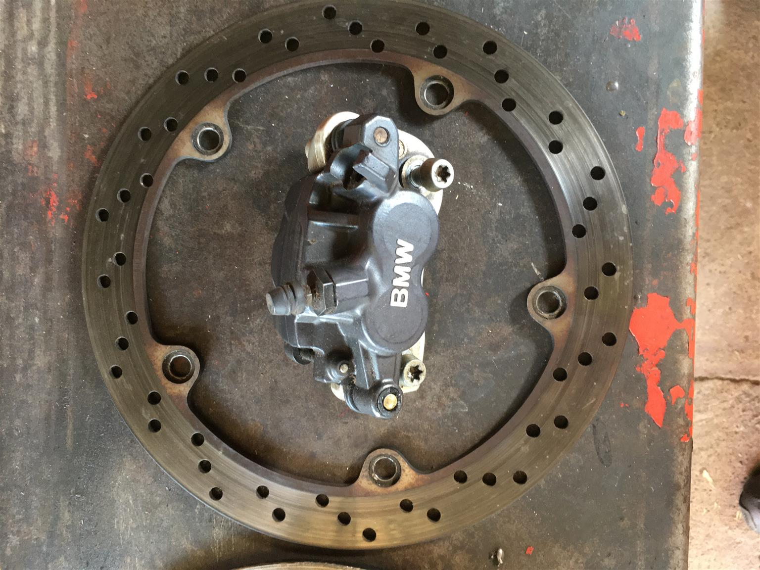 BMW R1150 GS brake discs and calipers