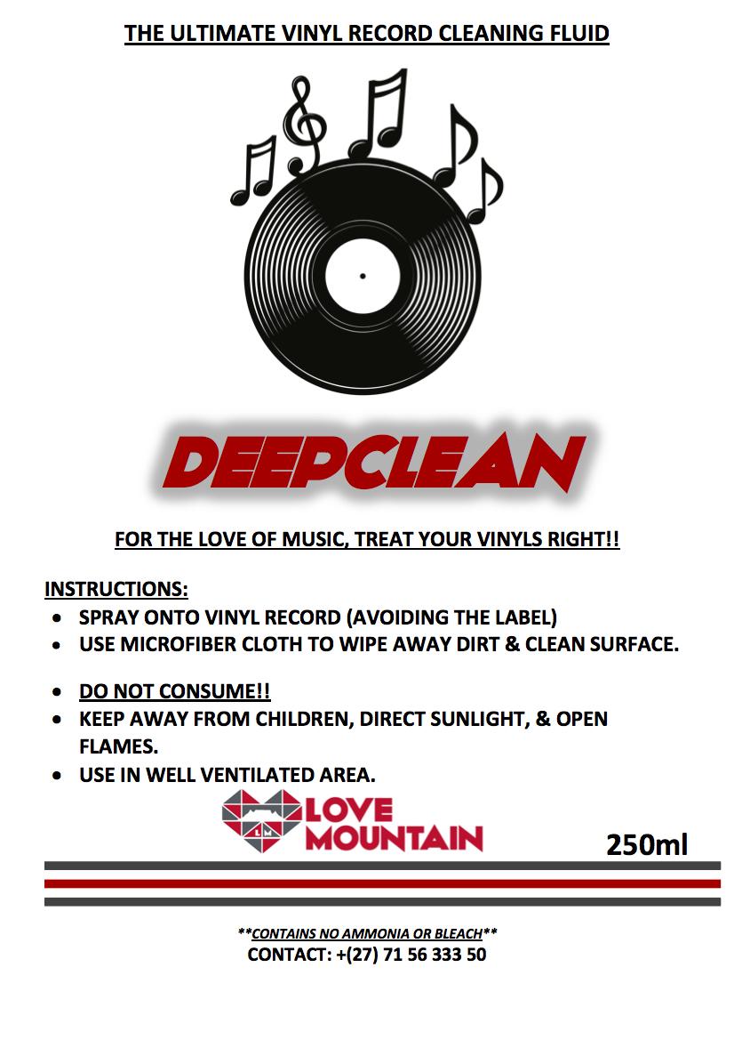 """DEEPCLEAN"" - THE ULTIMATE VINYL RECORD CLEANING FLUID"