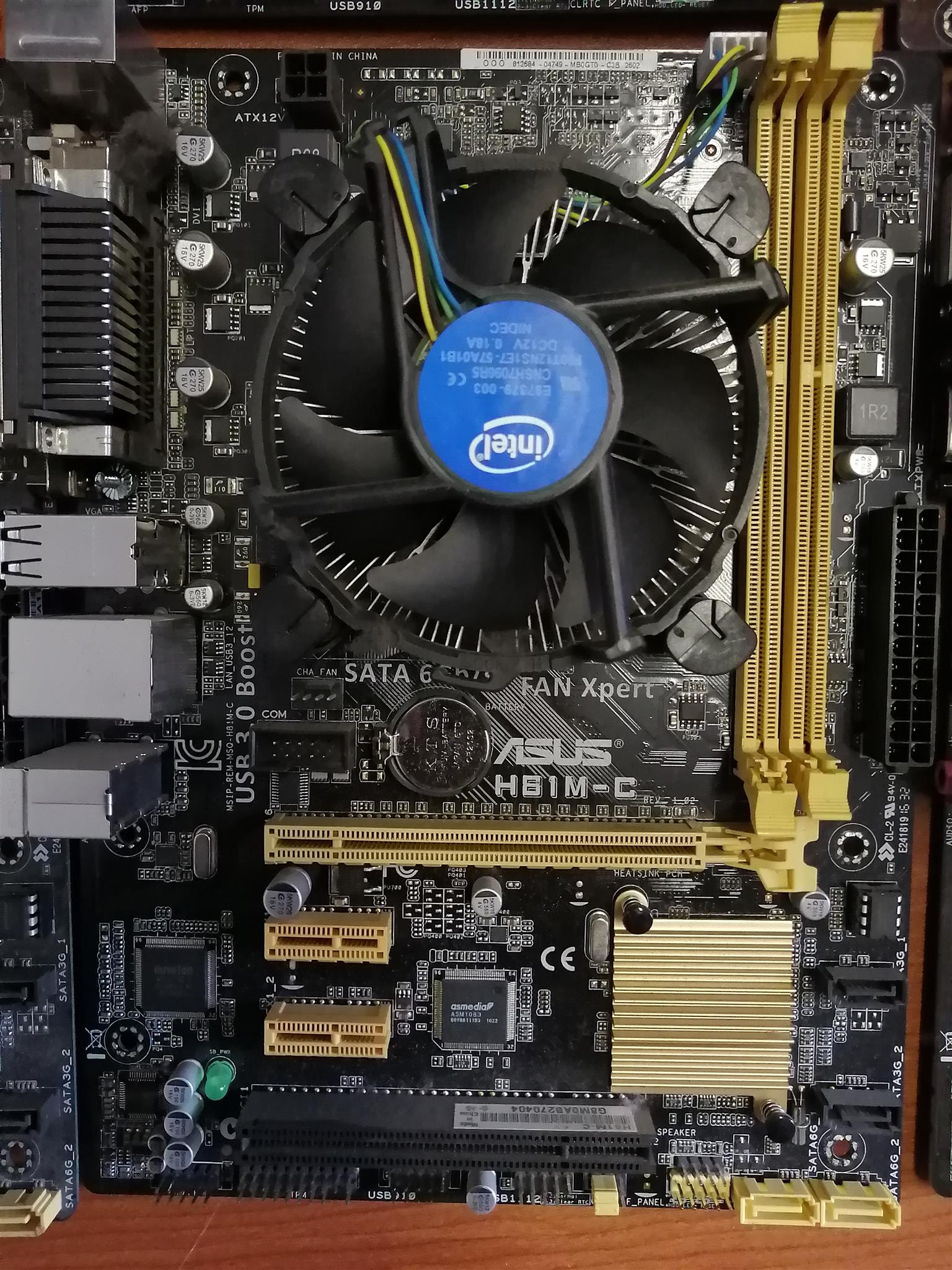 ASUS H81M-C Motherboard,intel socket 1150 for 4th generations