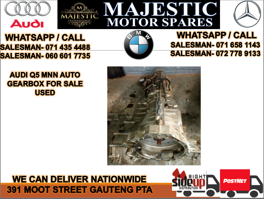 Audi Q5 MNN auto gearbox for sale