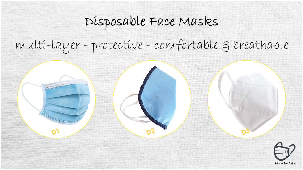 D15 Filters for Face Masks - Packs of 5