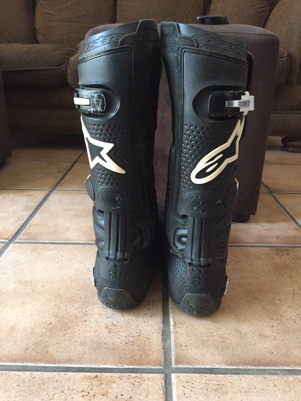 Alpinestars Tech 10 motocross boots.