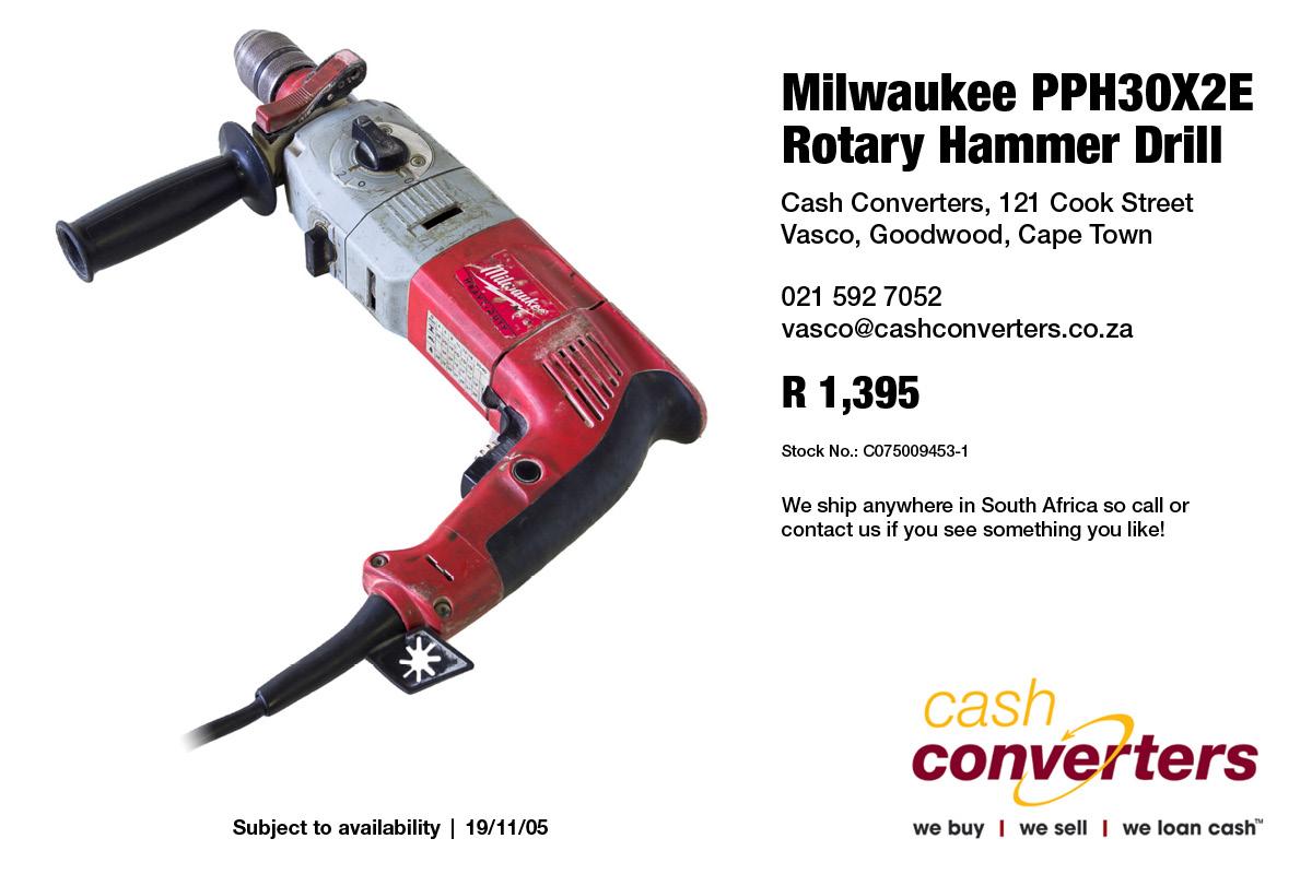 Milwaukee PPH30X2E Rotary Hammer Drill